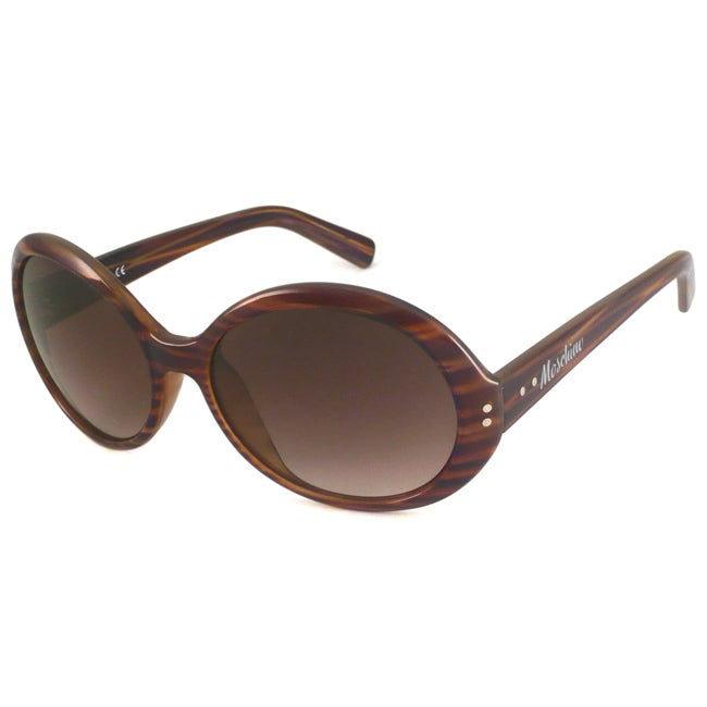 Moschino Women's MO543 Oval Sunglasses