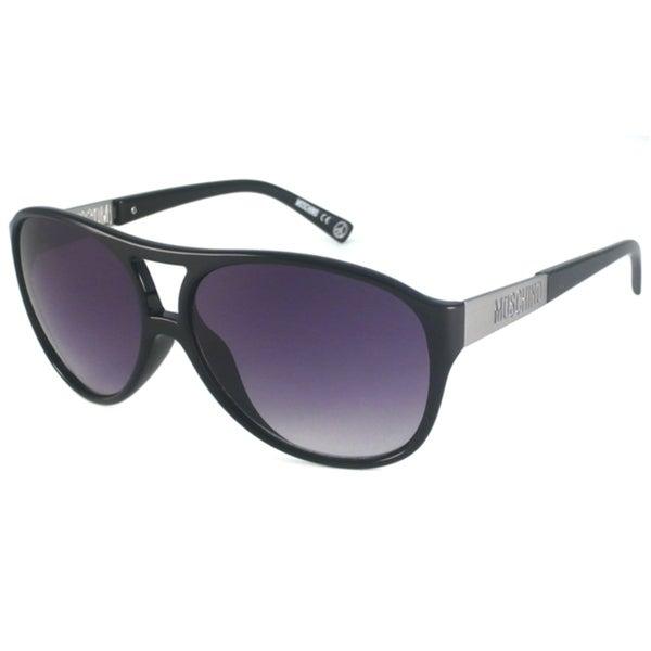 Moschino Women's Black MO552 Aviator Sunglasses