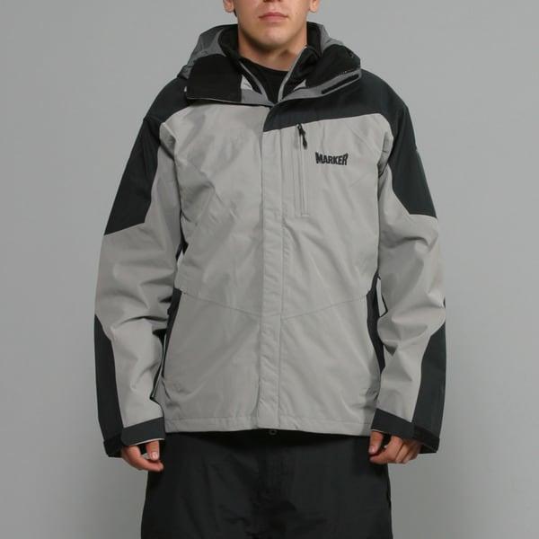 Marker Men's 'Zodiac' 3-in-1 Grey Ski Jacket