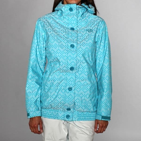 Rip Curl Women's Daisy Duke Jacquard Ski Jacket in Capri Breeze