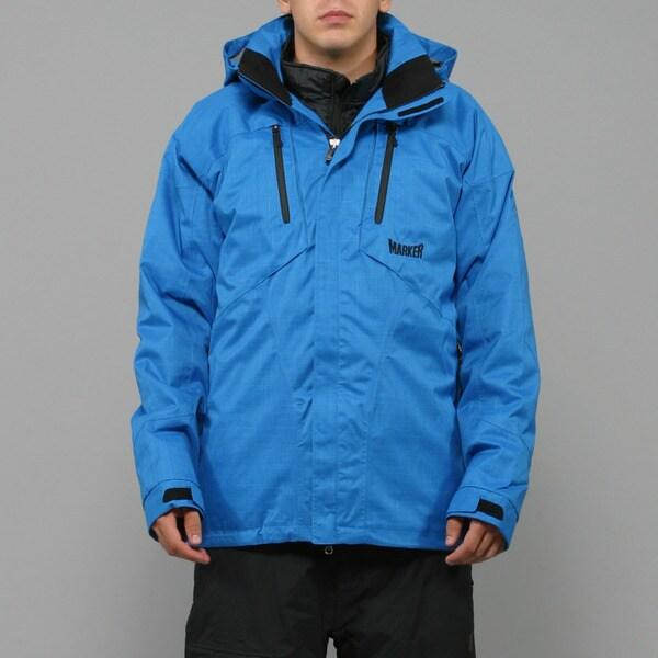 Marker Men's 'Cornice' 3-in-1 Imperial Blue Ski Jacket