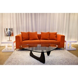 Decenni Custom Furniture 'Divina' Endurance Mandarin Orange Modern Sofa