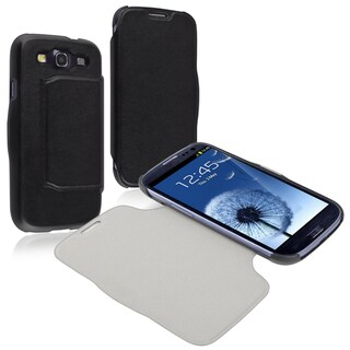 BasAcc Black Leather Case for Samsung Galaxy S III i9300