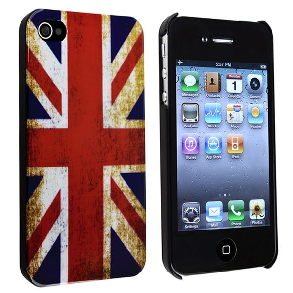 INSTEN UK Flag Snap-on Phone Case Cover for Apple iPhone 4/ 4S