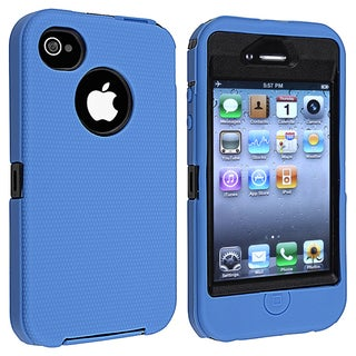 BasAcc Black Hard/ Blue Skin Hybrid Case for Apple iPhone 4/ 4S
