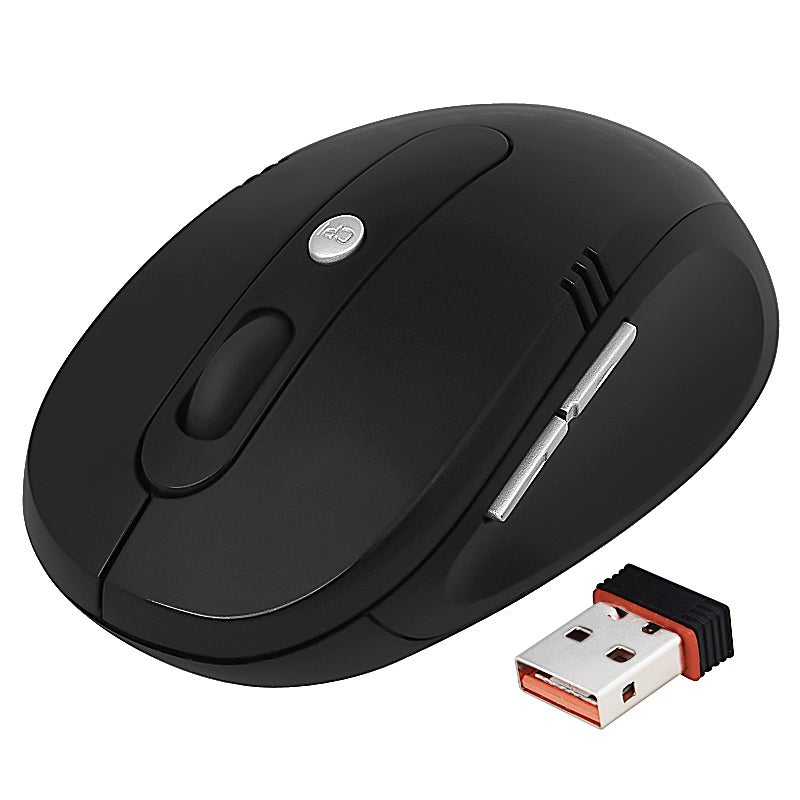 BasAcc Black 2.4G Wireless Optical Mouse Version 3