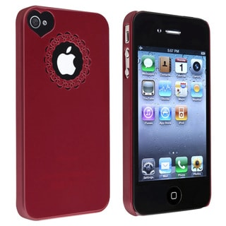 BasAcc Red Sweetheart Snap-on Case for Apple iPhone 4/ 4S