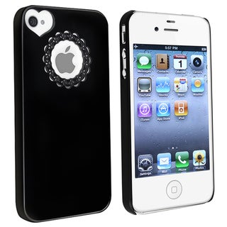 BasAcc Black Sweetheart Snap-on Case for Apple iPhone 4/ 4S
