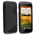 BasAcc Frost Black S Shape TPU Rubber Case for HTC One S