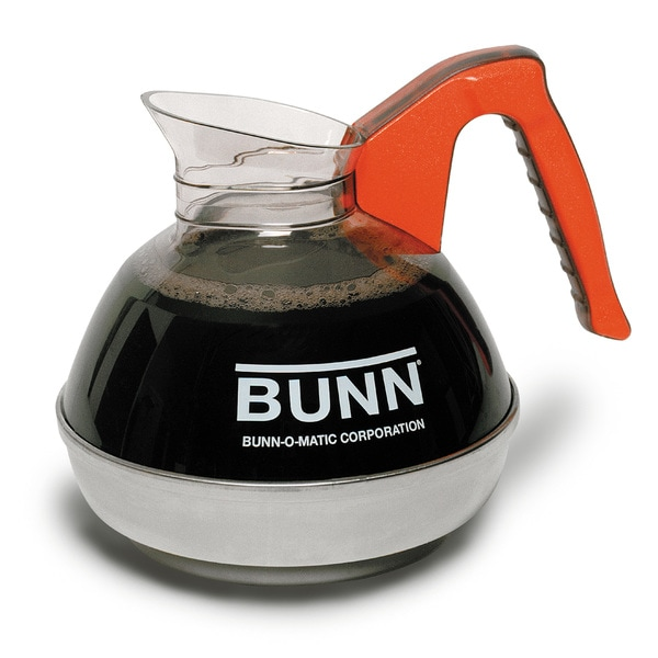 BUNN Orange Easy Pour Commercial 12-Cup Decaf Coffee Decanter