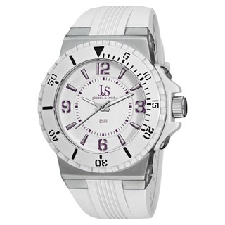 Joshua & Sons Men's Bold Swiss Quartz Silicon Strap Watch