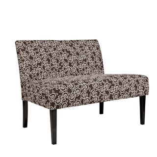 Portfolio Niles Chocolate Brown Vine Settee