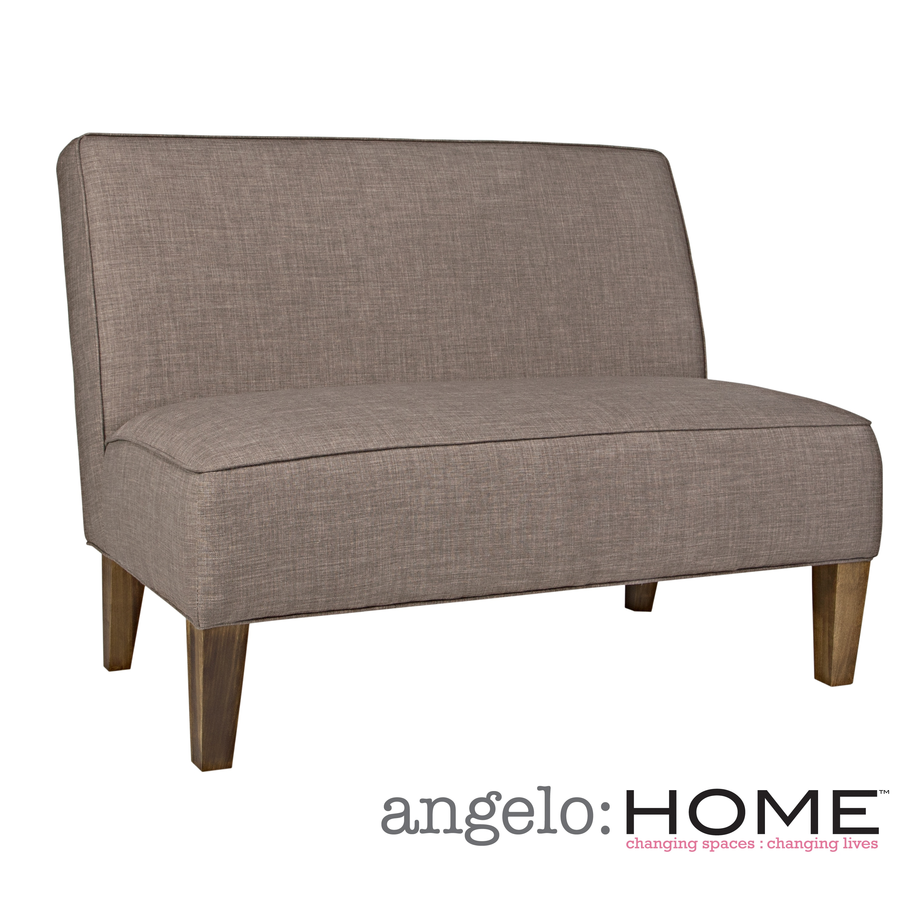 angelo:HOME Dover Smoke Gray Sand Armless Settee
