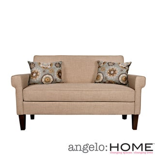 angelo:HOME Ennis Sandstone Khaki Brown Twill Sofa