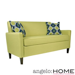 Angelo Home Sutton Kiwi Lime Green Basket Sofa Overstock Shopping Great Deals On Angelohome