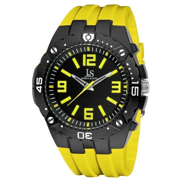 Joshua & Sons Men's Bold Swiss Quartz Chronograph Silicon Strap Watch