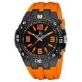 Joshua & Sons Bold Swiss Quartz Orange Silicone Strap Watch