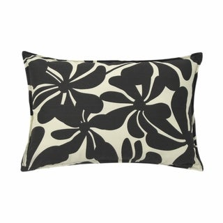 Twirly Black Outdoor 14x20-inch Pillows (Set of 2)