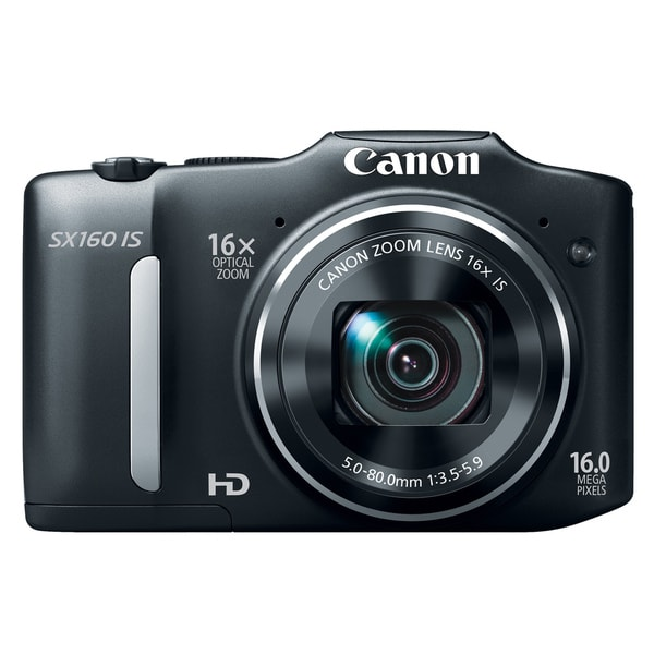 Canon PowerShot SX160 IS 16MP Black Digital Camera