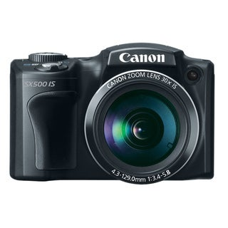 Canon PowerShot SX500 IS 16MP Black Digital Camera