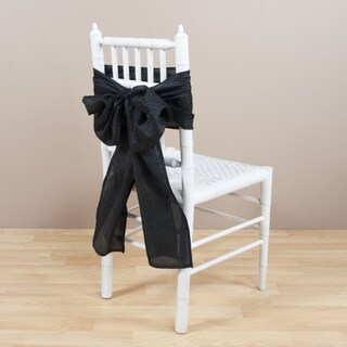 Crushed Black Chair Tie