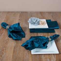 Crushed Teal Napkins (Set of 4)