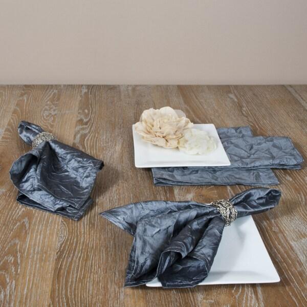 Crushed Pewter Napkins (Set of 4)