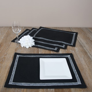 Painted and Beaded Placemats (Set of 4)