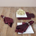 Crushed Burgundy Napkins (Set of 4)