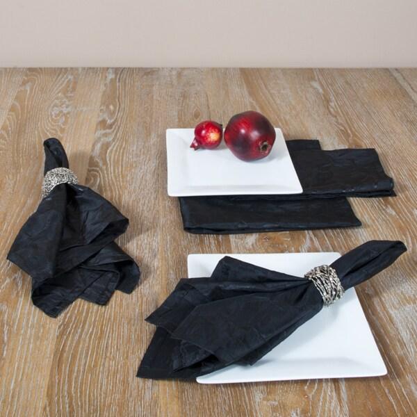 Crushed Black Napkins (Set of 4)