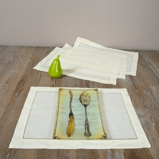 Hemstitched Butter Placemats (Set of 4)