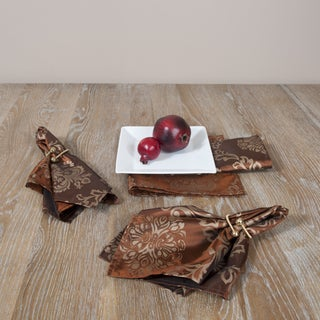 Printed Chocolate Napkins (Set of 4)