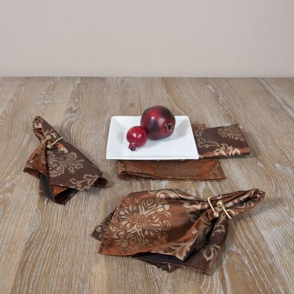 Printed Chocolate Napkins (Set of 4)