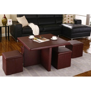 K&B OS5T02 5-piece Cocktail Ottoman Set
