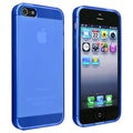 BasAcc Frost Clear Dark Blue TPU Case for Apple iPhone 5