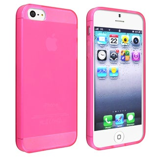 BasAcc Frost Clear Hot Pink TPU Case for Apple iPhone 5