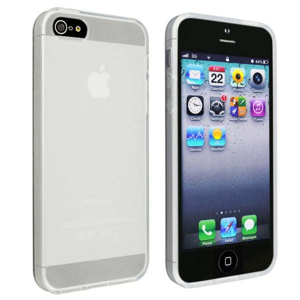 INSTEN Frost Clear White TPU Phone Case Cover for Apple iPhone 5
