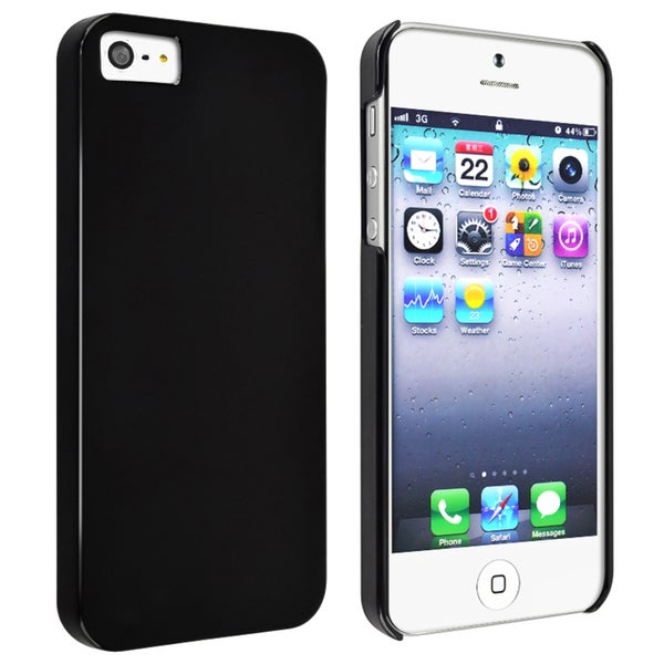 INSTEN Black Snap-on Slim Phone Case Cover for Apple iPhone 5