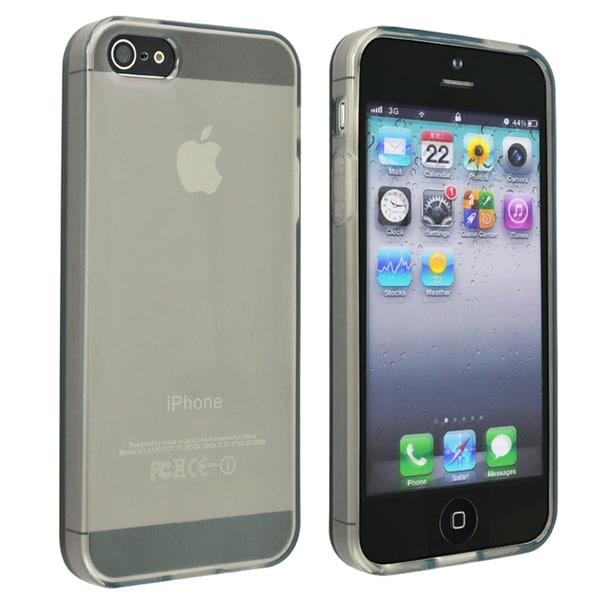 INSTEN Frost Clear Smoke TPU Phone Case Cover for Apple iPhone 5