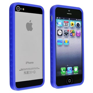 BasAcc Blue Bumper TPU Case for Apple iPhone 5