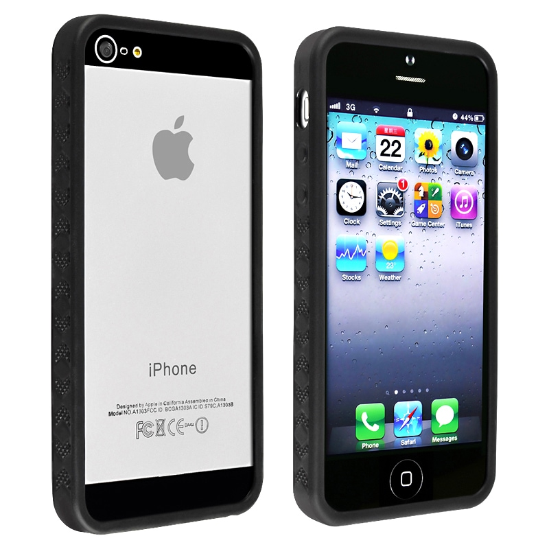 BasAcc Black Bumper TPU Case for Apple iPhone 5