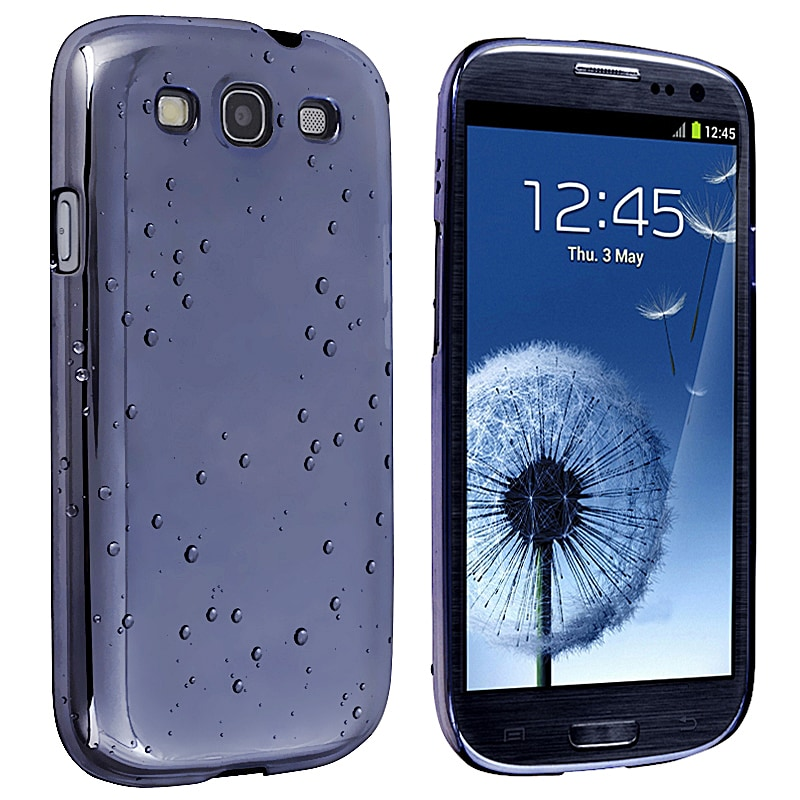 BasAcc Clear Blue Raindrop Case for Samsung Galaxy S III/ S3 i9300