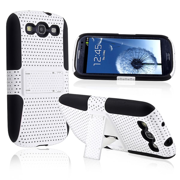 BasAcc Hybrid Case with Stand for Samsung Galaxy S III/ S3