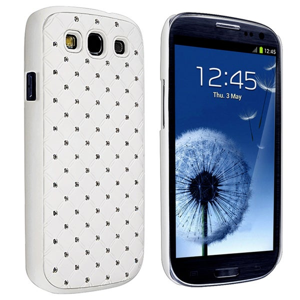 BasAcc White Diamond Gem Rear Case for Samsung Galaxy S III/ S3 i9300