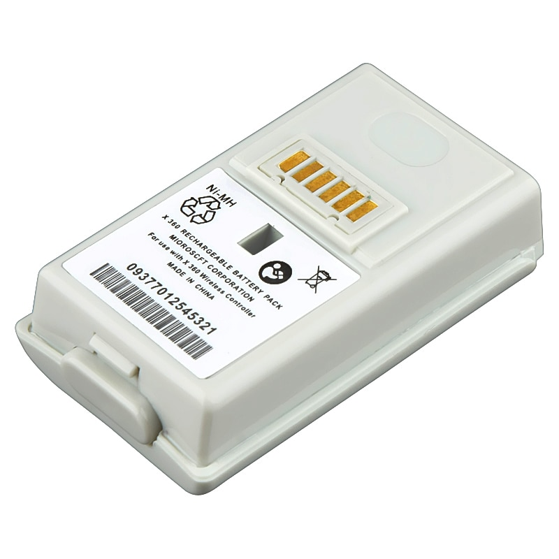 BasAcc White Battery Compatible with Microsoft xBox 360