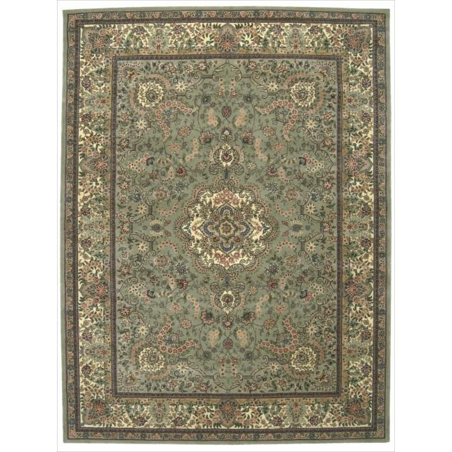 Nourison 2000 Hand-tufted Tabriz Light Green Rug (8'6 x 11'6)