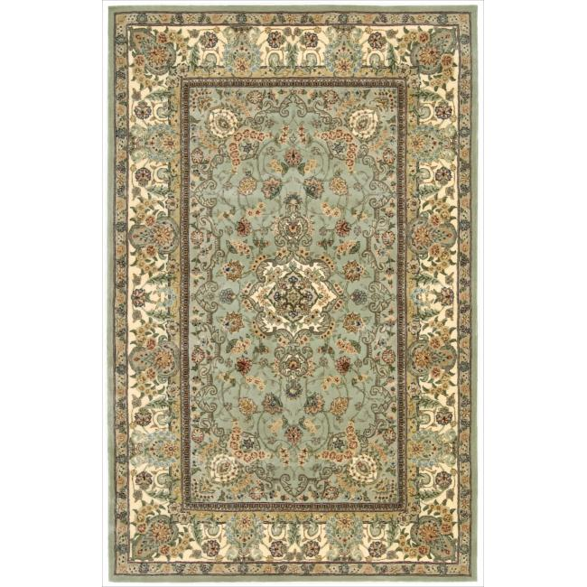 Nourison 2000 Hand-tufted Tabriz Light Green Rug (5'6 x 8'6)