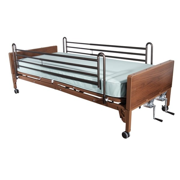 Multi-Height Manual Hospital Bed with Reinforced Frame