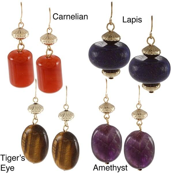 Ralph Lauren Multi Bead Nugget Drop Earrings
