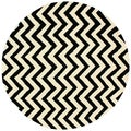 nuLOOM Hand-tufted Spectrum Chevron Wool Rug (6' Round)